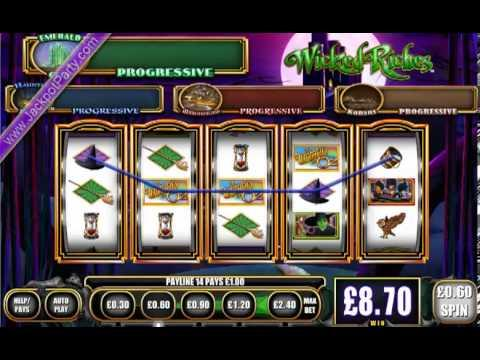 £1074.74 ON WIZARD OF OZ - WICKED RICHES™ PROGRESSIVE WIN (1791 X STAKE) - SLOTS AT JACKPOT PARTY