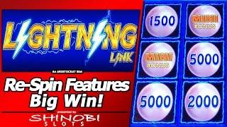 Lightning Link - Free Spins, Hold and Spin Features, Big Win!