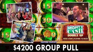 ★ Slots ★ $4200 GROUP PULL ★ Slots ★ $22.50 Max Bet Spins on Mighty Cash Double Up ★ Slots ★ STRAT V