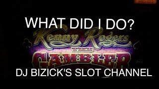 Kenny Rogers THE GAMBLER Slot Machine ~ THROWBACK ~ KNOW WHEN TO FOLD EM BONUS!!! • DJ BIZICK'S SLOT