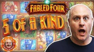 5 OF A KIND WINS on Fabled Four! •1st Time WIN$ on This Machine