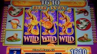 Game of Dragons II Slot Machine Bonus - 8 Free Games with Expanding Wilds - Nice Win