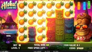 NetEnt - Aloha Cluster Pays - Free Spins Bonus Round