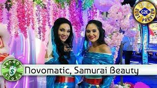 Samurai Beauty slot machine preview, Novomatic, #G2E2019