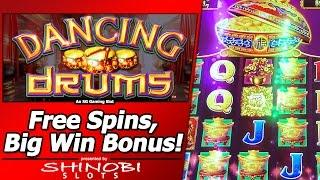 Dancing Drums Slot - Free Spins, Big Win Bonus in First Attempt