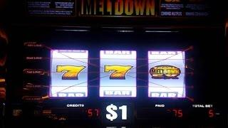 • 8 Live Play Minutes of Total Meltdown & Double Jackpot 7's • 2 Of My Favorite Slot  Machines •