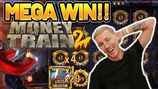 MEGA WIN! MONEY TRAIN 2 BIG WIN - €2,5 bet bonus buy on Casino Slot from CASINODADDY
