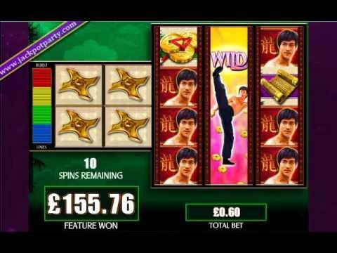 £312.40 MEGA BIG WIN (520 X STAKE) BRUCE LEE ™ BIG WIN SLOTS AT JACKPOT PARTY