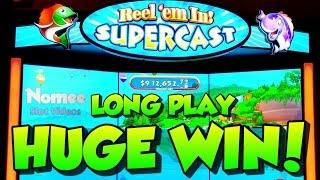 •NEW GAME!!• REEL'EM IN! SUPERCAST Slot Machine •Long Play with HUGE WIN!!! ••