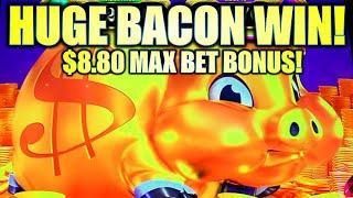 ★ Slots ★HUGE BACON BIG WIN!★ Slots ★ MY BIGGEST $8.80 MAX BET BONUS ★ Slots ★ RAKIN BACON Slot Mach