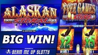 Alaskan Storm Deluxe Slot - Free Spins, Big Win in TimberWolf Deluxe clone