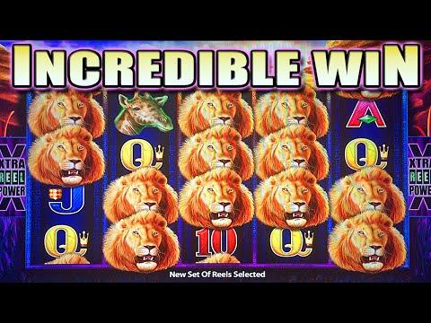 MEGA BIG WIN LINE HIT: MAX BET SUNSET KING SLOT MACHINE by Aristocrat Slots