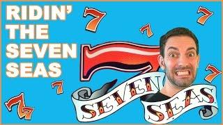 Ridin' the SEVEN SEAS• Mulitplier Slot Machines • Live Play Fun!
