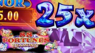 THERE IS A 'BUG' IN THIS SLOT MACHINE!! • 88 FORTUNES DIAMOND • LIVE PLAY • FLAMINGO LAS VEGAS