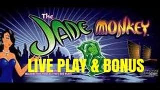 High Limit Jade Monkey Slot Machine Bonus-with Desiree