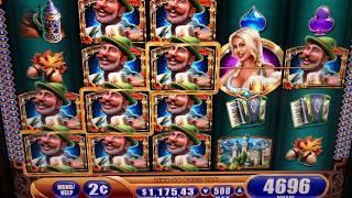 1 Hour of BIER HAUS Live Play with MAJOR PROGRESSIVE JACKPOT Won & BIG WIN BONUS Slot Machine Videos