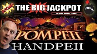 • JACKPOT HANDPAY on POMPEII • 15 FREE GAMES • w/ The Big Jackpot