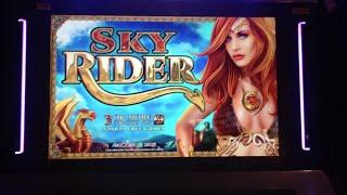 SKY RIDER Slot Machine 10+9 Free Spin Bonus Games
