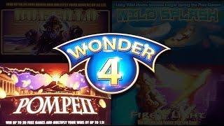 Wonder 4 Pompeii  - Great Line Hit and Nice Free Spins Bonus