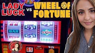 Lady Luck vs. WHEEL OF FORTUNE Slot on Royal Caribbean!