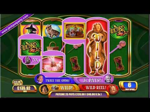 £3720 ON WIZARD OF OZ RUBY SLIPPERS™ MEGA BIG WIN (310 X STAKE) - SLOTS AT JACKPOT PARTY