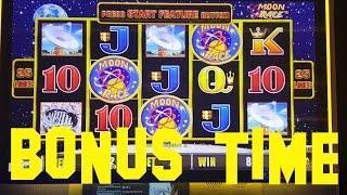 Lightning Link Moon Race BONUS FREE SPINS at $7.50 per spin 10 cent denom Slot Machine