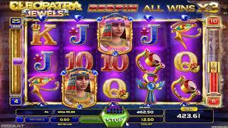 Cleopatra Jewels casino slots - 810 win!