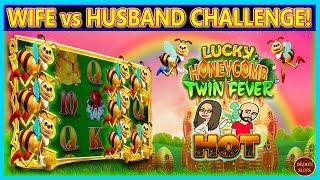 HERE WE GO AGAIN!  •• WIFE vs HUSBAND • VIEWER REQUEST   LUCKY HONEYCOMB TWIN FEVER  