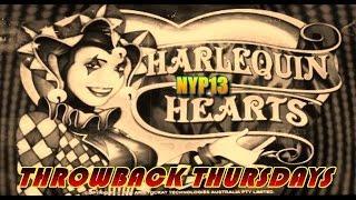 Aristocrat - Harlequin Hearts MAX BET Slot Bonus