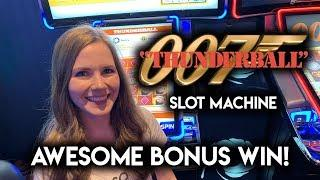 CRAZY Chip Re-Spin! So many GOLD Chips!! James Bond Thunderball Slot Machine!