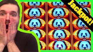 HIGH LIMIT GROUP PULL On Fu Dai Lian Lian Panda & Dragon Slot Machine