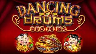 BIG WIN + FUN SURPRISE on DANCING DRUMS SLOT MACHINE POKIE BONUSES - PECHANGA CASINO