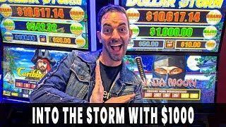 • INTO THE STORM w/ $1000 • Wild WINNING Run on Dollar Storm Ninja Moon •