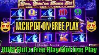 •JACKPOT on Free Play•HAND PAY Timber Wolf Deluxe Slot machine•彡 100%  Live Play @ San Manuel Casino