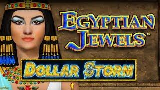 NEW GAME! BIG WIN on EGYPTIAN JEWELS DOLLAR STORM SLOT POKIE BONUSES - PECHANGA
