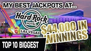⋆ Slots ⋆ Almost $44,000 IN WINNINGS! ⋆ Slots ⋆ My Hard Rock Las Vegas 10 BIGGEST JACKPOTS EVER