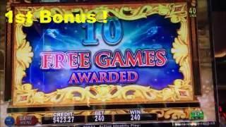 •Double DAVINCI DIAMONDS Slot machine (IGT)• BIG LINE HIT & NICE BONUS WIN • MAX Bet $2.40