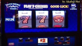 JACKPOT• LIVE•Triple Double STARS $2 Slot Machine Max Bet $6, Cosmopolitan Las Vegas 赤富士スロット