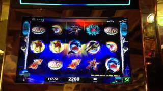 Mystical Mermaid Returns Slot Machine Bonus Big Win $.05 Wynn Casino Las Vegas