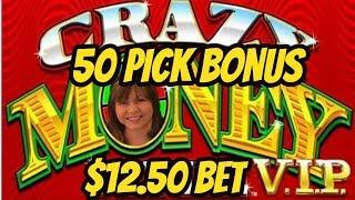 $12.50 BET ON CRAZY MONEY-50 PICKS BONUS