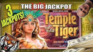 3 FUN JACKPOT$ •Temple of the Tiger •BONUS ROUND WIN$ •