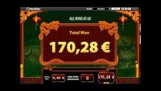 Bruce Lee - Dragons Tale Slot - Freespin Feature - Super Big Win (212x Bet)