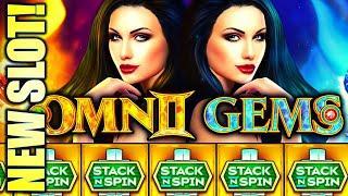 ⋆ Slots ⋆NEW SLOT! STACK 'EM UP!⋆ Slots ⋆ OMNI GEMS STACK N SPIN Slot Machine Bonus (Incredible Tech
