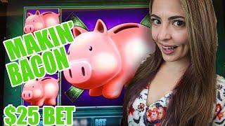 • MAKIN' Bacon on $25/BET Piggy Bankin' Slot at Cosmo Las Vegas! •