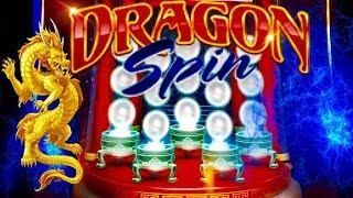 •MAX BET• DRAGON SPIN SLOT MACHINE BONUS•BIG WIN LINE HITS •CASINO GAMBLING! FOUR WINDS CASINO!
