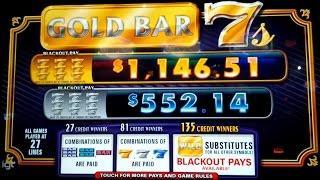 Gold Bar 7s Slot - BIG WIN - Blackout Pay?!