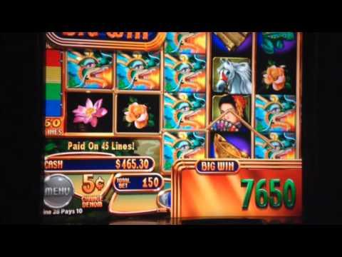 Dragon Lady 5 cents machine Line Hit Big win ** SLOT LOVER **