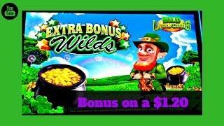 Aristocrat - Wild Lepre Coins - Bonus on a $1.20 bet