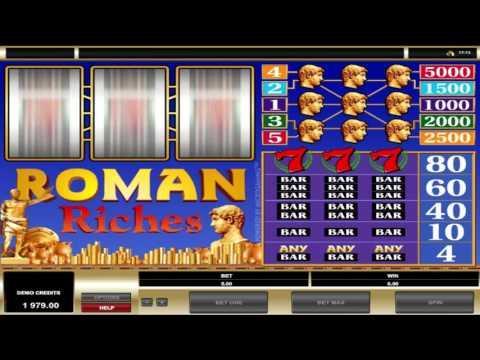 Free Roman Riches slot machine by Microgaming gameplay ★ SlotsUp