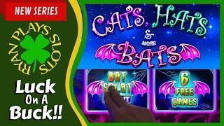 Cats Hats & More Bats Slot • Luck On A Buck Series • Ryan Plays Slots